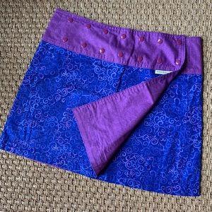 Sweet Spot Skirts reversible blue and purple swirl